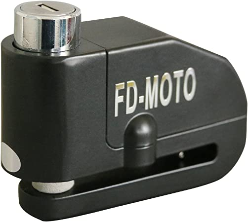 Fd Moto 110db Brake Disc Lock Alarm Disc Lock 7 Mm Pin 1 5 M Memory Cable Black Motorcycle Lock For Motorcycle And Bicycle Auto