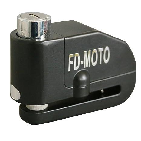 FD-MOTO 110dB Candado de Disco Moto con Alarma Acero 7mm con Cable 1.5M Bloqueo de Moto Motocicleta Antirrobo - Noir: Amazon.es: Coche y moto