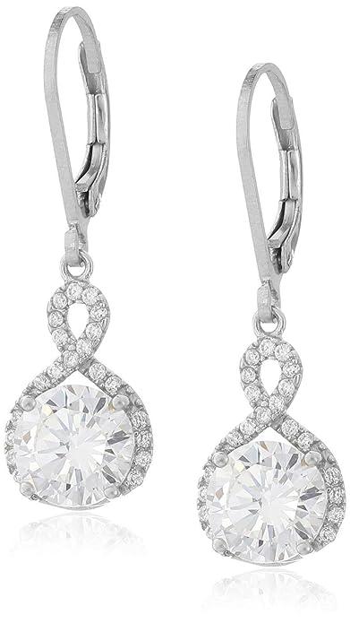 af2b637fb Amazon.com: Chic Rue Swarovski Infinity Crystal Drop Earrings - Silver  Gold: Jewelry