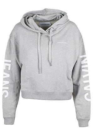 b8bd784bb50fdf Calvin Klein Jeans Institutional Cropped W Hoodie: Amazon.de: Bekleidung