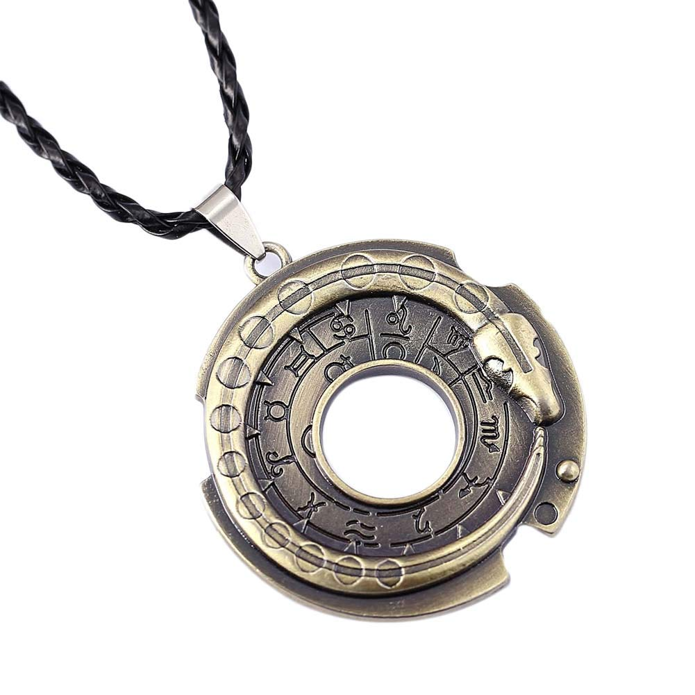 Assassin's Creed III Connor Ratonhnhaké:ton Ouroboros Snake Ring Amulet Pendant Necklace - DeluxeAdultCostumes.com