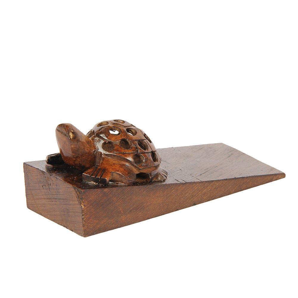 Aheli Decorative Wooden Door Stopper Doorstop Holder Handcrafted Floor Blocker Closer Jammer Home Furniture Decor