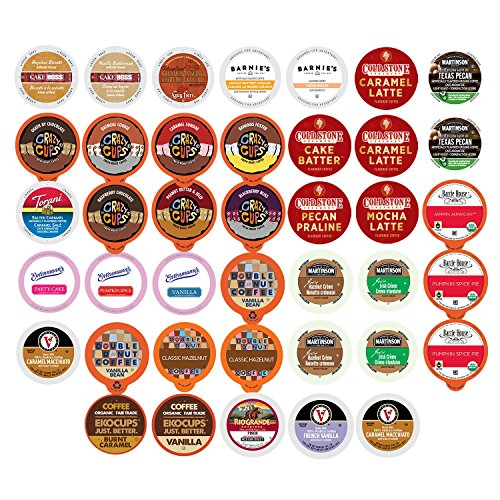Pods Coffee Variety Pack (Flavored Coffee Single Serve Cups For Keurig K cup Brewers Variety Pack Sampler, 40 count (Flavored Sampler))