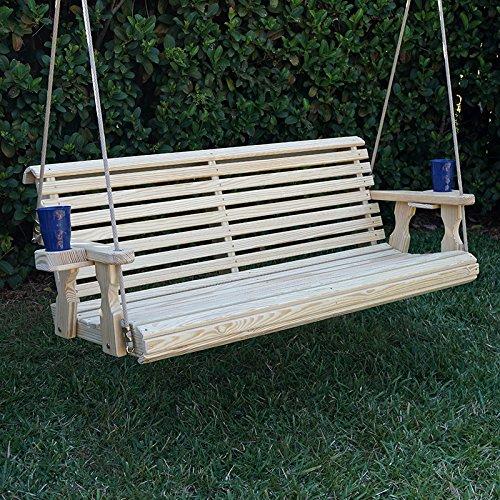 Caf Amish Heavy Duty 800 Lb Roll Back Treated Porch Swing