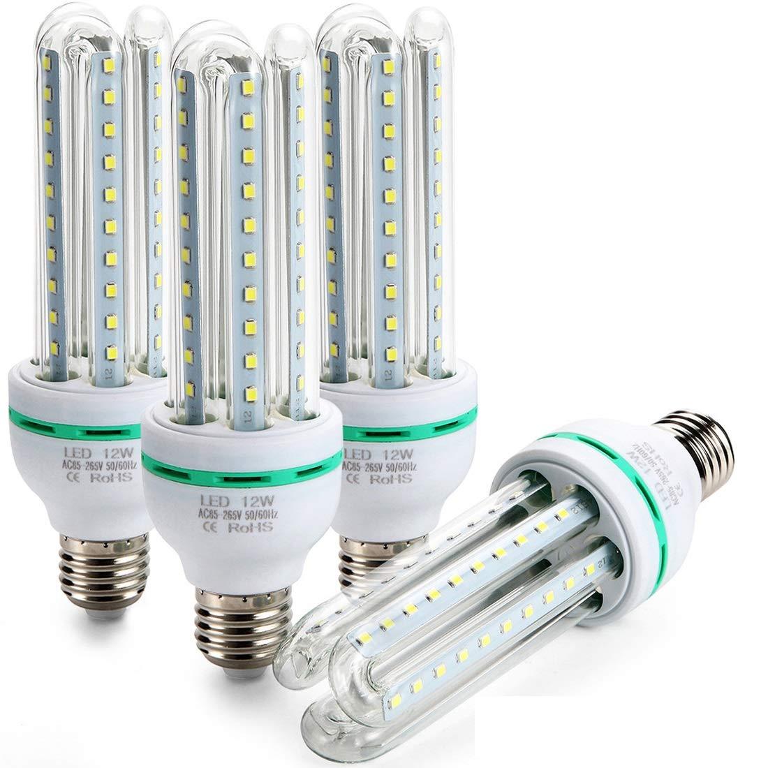 Bulbs 12w Light 60leds Energy Led 4 White KelvinHigh Efficiency Saving Bulbs Lumen Letour Corn Packscool 1150 Daylight6500 FK1TlJ3uc
