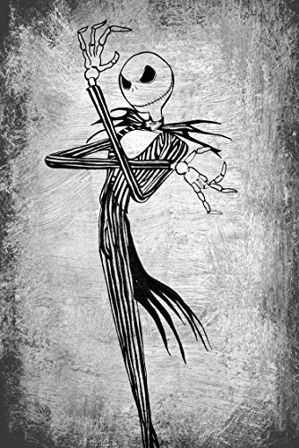 Jack Skellington Print, Birthday, Nightmare before Christmas, Pumpkin King, Nightmare print, movie print, Halloween Print, Birthday, Skellington's, Black and white print, Halloween Town (Ideas For Painting Pumpkins For Halloween)