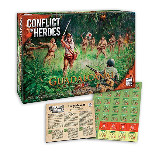 Academy Games Conflict of Heroes - Guadalcanal w/Free Army Expansion Bundle