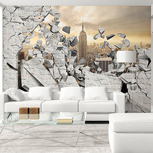 Vlies Fototapete 400x280 cm - 3 Farben zur Auswahl - Top - Tapete - Wandbilder XXL - Wandbild - Bild - Fototapeten - Tapeten - Wandtapete - Wand - Stadt City New York d-A-0045-a-b