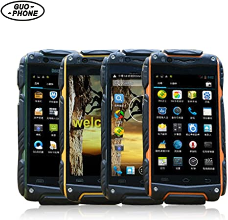 Smartphone, Guophone V8 Dual SIM Dual Standby Dual Core Android 4.4 Sistema de Doble Cámara de Pantalla Táctil Smartphone 4Inch 2800mAh Impermeable Celular de Teléfono Móvil: Amazon.es: Bebé