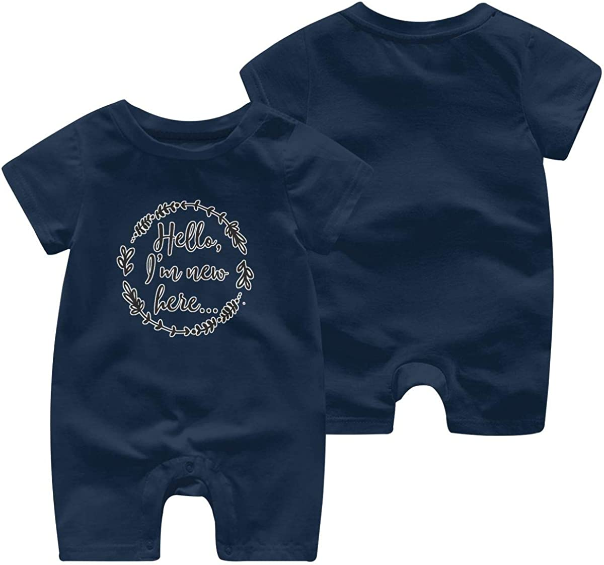 Hello Im New Here Baby Bodysuit Crawler Novelty Short Sleeve Outfit Clothing