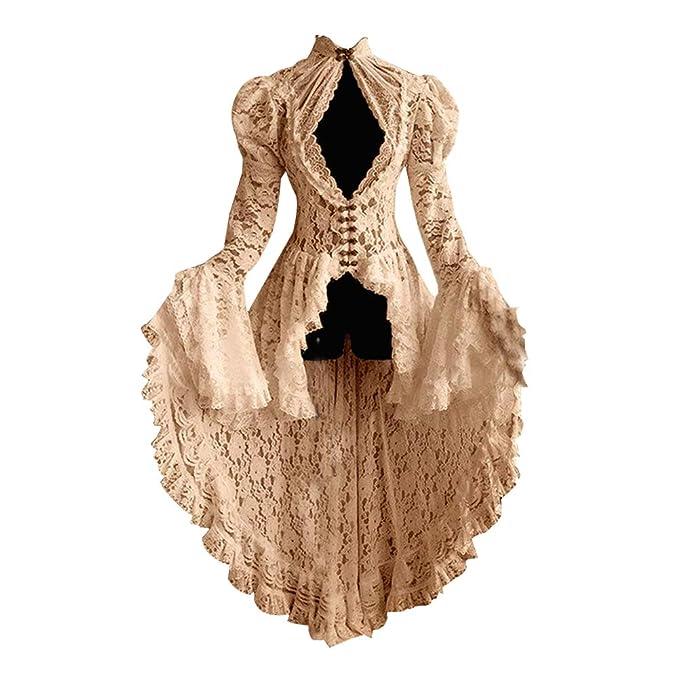 Goyajun Mujer Retro Vestido Elegante Gótico Abrigo Lolita ...