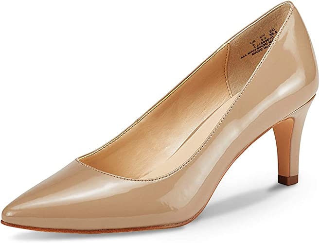TALLA 42 EU. Zapatos de Corte clásico de tacón para Mujer Zapatos de tacón Medio Zapatos de Trabajo con Punta Cerrada