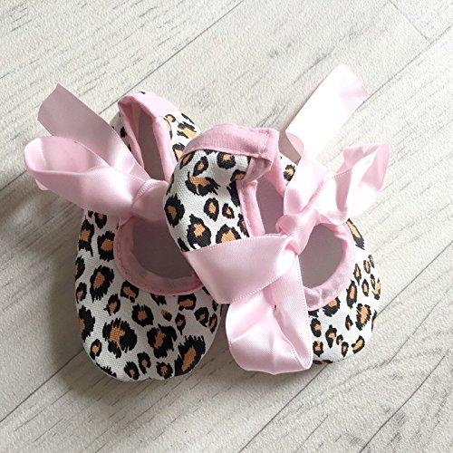 Bailarina suave bebé de 0a 12meses, Modelo Leopardo Rosa 3/6Meses, 6/9Meses, 0/3meses, 9/12Meses rosa Rose Talla:9/12 mois
