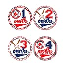 Boston Red Sox Baby Milestone Stickers - Baby Belly Stickers