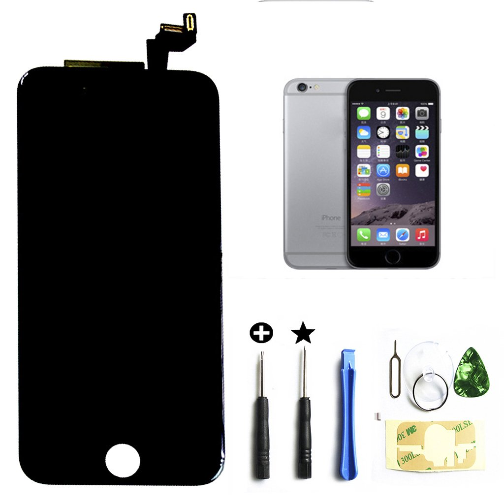ZTR Black iPhone 6s 4.7 inch Retina LCD Touch Screen Digitizer Glass Replacement Full Assembly with Repair Kit by ZTR