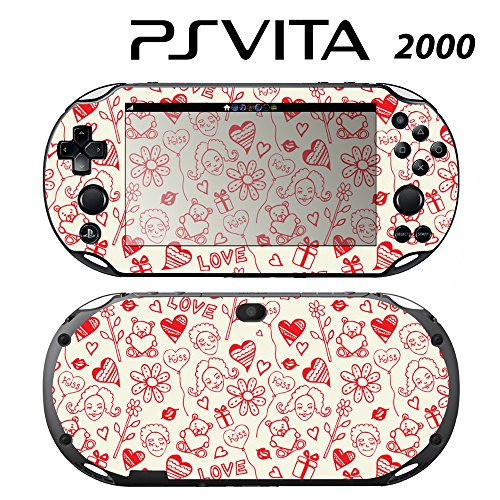 Decorative Video Game Skin Decal Cover Sticker for Sony PlayStation PS Vita Slim (PCH-2000) - Kiss & Love -  Decals Plus, PV2-PA41