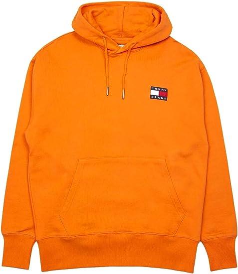 hoodie homme orange