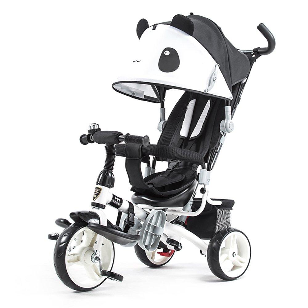 HAIZHEN マウンテンバイク 4色とEVAタイヤ付きの1つの簡単な三輪車の子供のトライクで4 新生児  ブラック B07CG7S5KL
