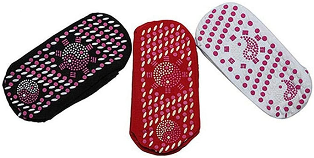 LUNULE Calcetines de Masaje Calcetines Magn/éticos de Terapia de Autocalentamiento de Turmalina Calcetines Autocalentables