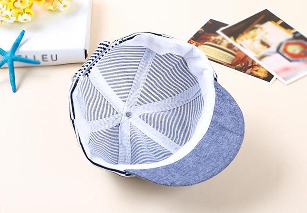 Yo cute casual a righe morbido Eaves Baby berretto da baseball in cotone per bambini vi cappelli ragazze dei neonati Beret Sun cappelli cappello snapback