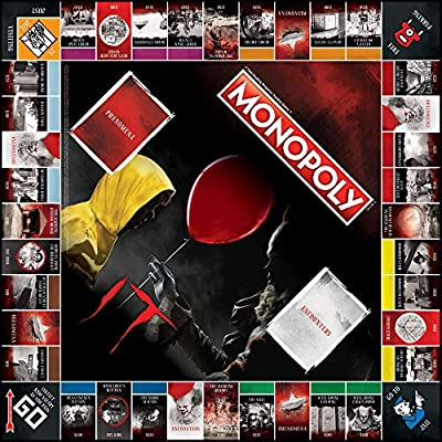 Monopoly IT Board Game   Based on The 2020 Drama/Thriller IT   Officially Licensed IT Merchandise   Themed Classic Monopoly Game: Toys & Games