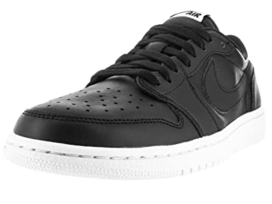 cheap for discount 80b38 4a4f8 Image Unavailable. Image not available for. Color  Nike Jordan Mens Air  Jordan 1 Retro Low Og Black White Basketball Shoe 10 Men