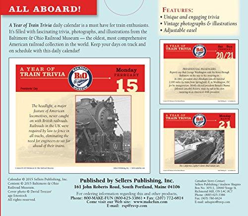 Year of Train Trivia 2016 Boxed/Daily Calendar