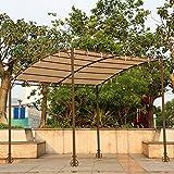IKAYAA Steel Patio Gazebos Garden Canopy Outdoor Sun Shelter