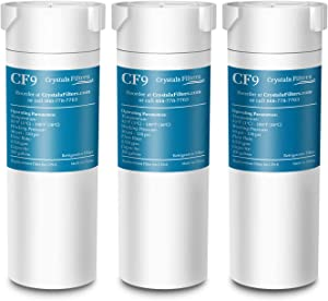 Crystala Filters Compatible with GE XWF Water Filter, Replacement for GE SmartWater Refrigerator Water Filter, (3 PACK)