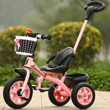 GUOJIUXIAO Triciclo para Niños, Carro De Tres Ruedas Dos En Uno ...