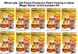 Whole Sale: 250 Pieces Prospector Pete's Fortune in Gems (Magic Stone)- Science Project Kit