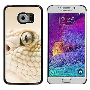 Shell-Star Arte & diseño plástico duro Fundas Cover Cubre Hard Case Cover para Samsung Galaxy S6 EDGE / SM-G925 / SM-G925A / SM-G925T / SM-G925F / SM-G925I ( White Snake Macro )