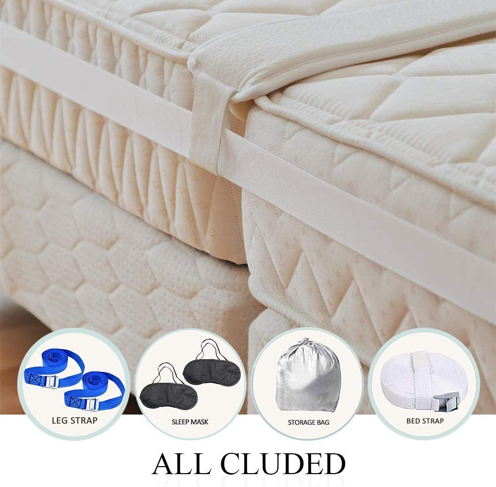 Bed Bridge Twin to King Converter Kit Gap Filler-Bed Hypoallergenic Gap Filler-Twin Bed/&Mattress Connector for Guest Room/&Family-6.3in x 6.5ft-Bouns 2Eye Sleep Masks/&Storage Bag/&2Leg Strap