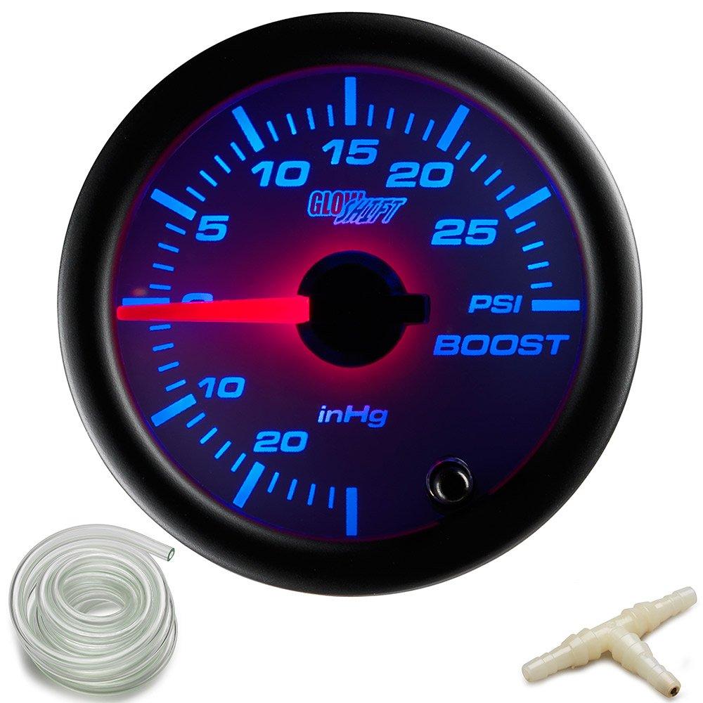 Black Triple Pillar Pod Narrowband Air//Fuel Ratio /& 100 PSI Oil Pressure Gauges White 7 Color 30 PSI Boost//Vacuum GlowShift Gauge Package for 1994-2002 Ford Mustang SVT Cobra Hardtop