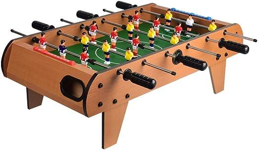 Luqifei Mesa de futbolín Adultos y niños Mesa de futbolín/Juego de fútbol recreativo portátil de