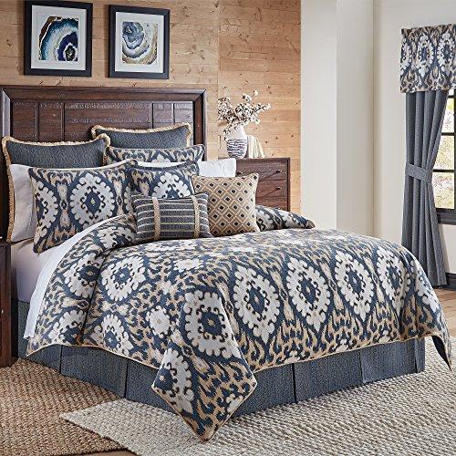 Croscill Kayden 4pc Queen Comforter Set, Blue, 4 Piece -