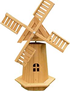 Outdoor Garden Windmill Wooden Decor Lawn Ornament Moving Blades Spinner Kasa 72