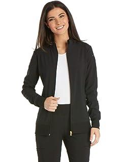e841099c717 Amazon.com: Cherokee Infinity Women's Zip Front Warm-Up Scrub Jacket ...