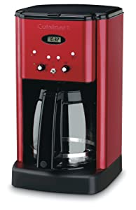Cuisinart DCC-1200MR 12 Cup Brew Central Coffee Maker Metallic Red