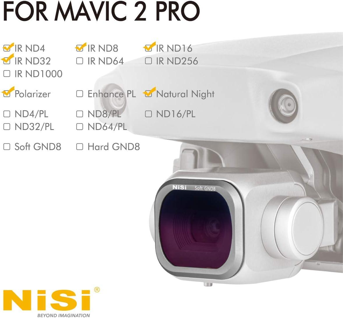 6-Pack Natural Night and Polarizer Featuring ND4 ND16 NiSi Advance Kit fit DJI Mavic 2 Pro ND8 ND32