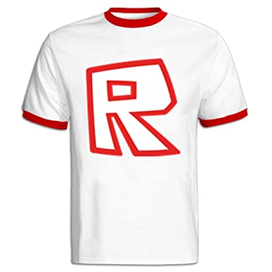 YEAN Men's ROBLOX R Logo T-shirt M Red: Amazon co uk: Clothing