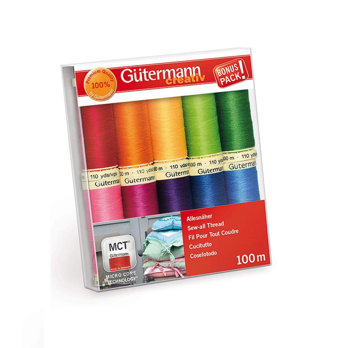 "Gutermann Sewing Thread Set /""Summer Loft/"" 7 X 100m Sew All Multi-Purpose"