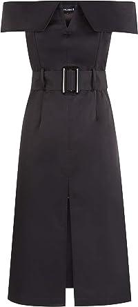 Style Mafia Off The Shoulder Midi Dress Black Amazon Co Uk Clothing