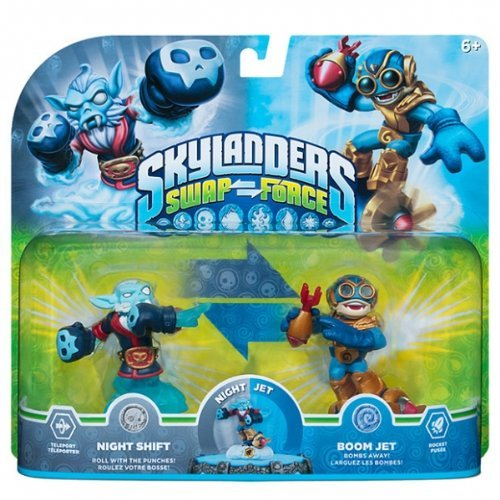Skylanders Swap Force Night Shift and Boom Jet 2-pack by Activision (Night Shift Skylanders)
