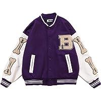 2021 New Vintage Streetwear Jacket, Flocking Embroidery Baseball Uniform, Oversized Patchwork Jacket, Pu Leather…