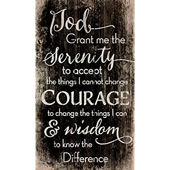 Elanze Designs Serenity Prayer 14 X 11 Wood Print Overlay Wall Art Sign Plaque