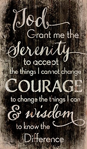 P. Graham Dunn Serenity Prayer Black and White Distressed 24 x 14 Wood Pallet Wall Art Sign Plaque