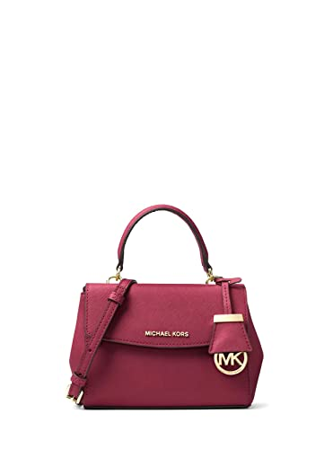 9c1ebb87f8463 MICHAEL Michael Kors Ava Extra-Small Saffiano Leather Crossbody Bag -  Mulberry