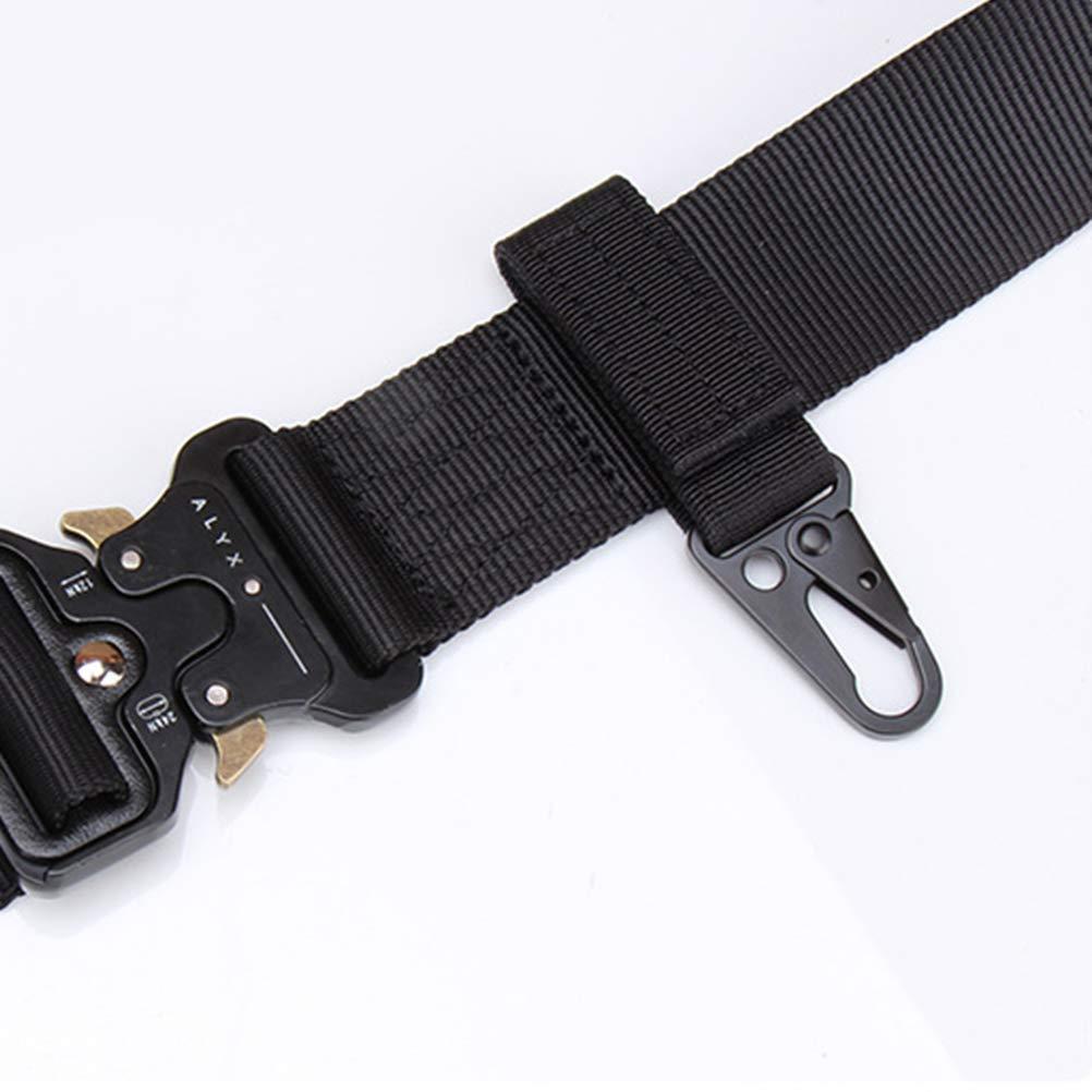 Schwarz LIOOBO 2 st/ücke Gear Clip Web Nylon G/ürtel Band Keeper Pouch Karabiner Standard Kette Schnellverschluss Kompatibel f/ür Outdoor-Aktivit/äten Haken mit Molle Taschen