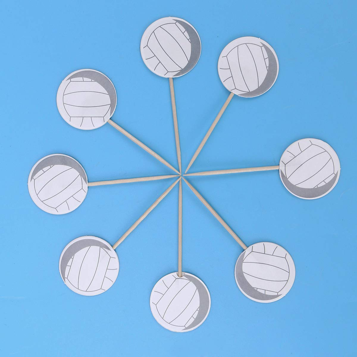 Birthday Party iMagitek 48 Pack Volleyball Cupcake Toppers Decorations for Volleyball Theme Party Baby Shower